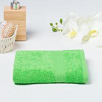 Полотенце махровое гладкокрашеное «Эконом» 30х60 см, цвет салатовый