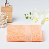 Полотенце махровое гладкокрашеное «Эконом» 30х60 см, цвет персиковый