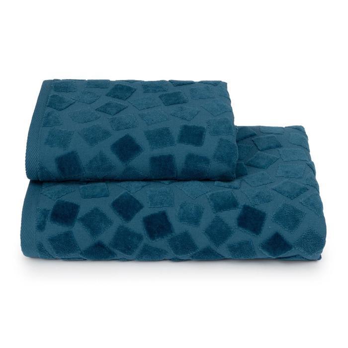 Полотенце махровое Piccolo mosaico ПЦС-3501-4476 цв.18-4222 70х130, синий, хл100%, 460г/м2