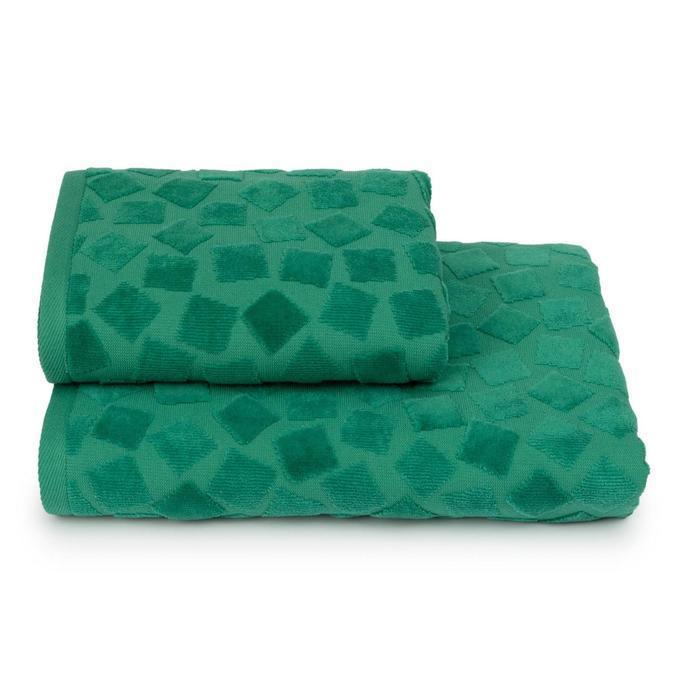 Полотенце махровое Piccolo mosaico ПЦС-2601-4476 цв.16-5930 50х90, зел,  хл100%, 460г/м2