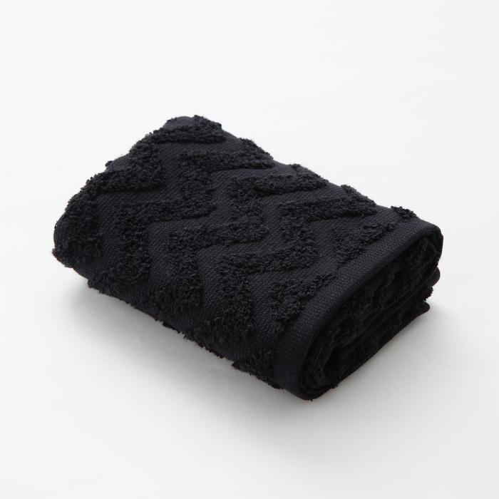 """Полотенце махровое LoveLife """"Zig-Zag"""" 70*130 см, цв. черный100% хл, 360 гр/м2"""
