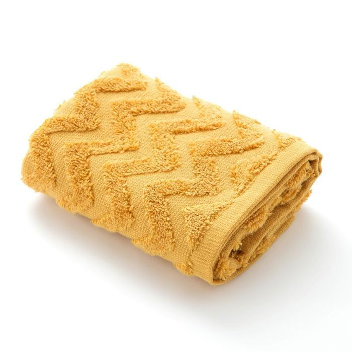 """Полотенце махровое LoveLife """"Zig-Zag"""" 70*130 см, цв. горчичный,100% хл, 360 гр/м2"""