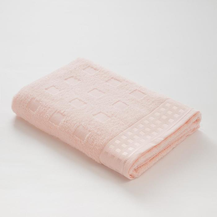 Полотенце махровое LoveLife Square, 70х130 см, цвет бледно-розовый