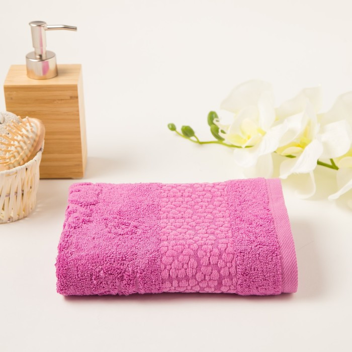 Полотенце махровое Soffi 50х90 см, фиолетовый, бамбук 100%, 500 г/м2