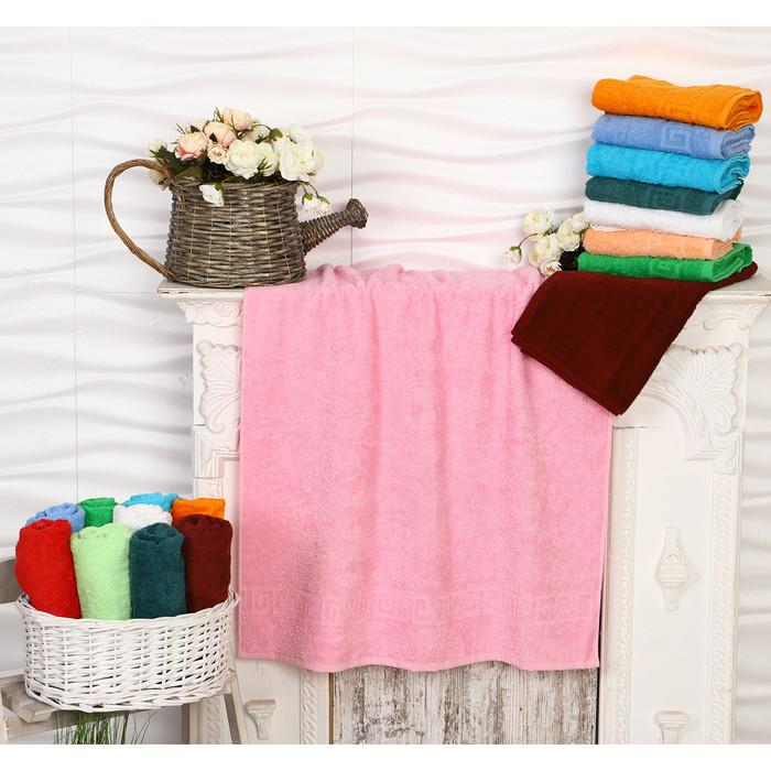 Полотенце махровое, 70х140 см, цвет светло-розовый