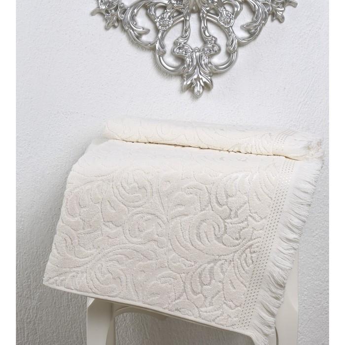 Полотенце Esra, размер 90 × 150 см, кремовый