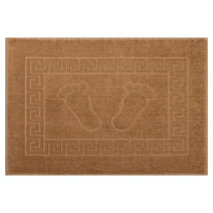Полотенце для ног махровое 50х70 см ,670 гр/м,100% хлопок коричневый