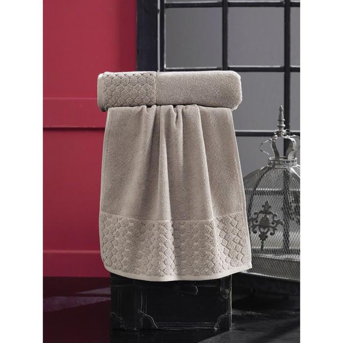 Полотенце Ponpon, размер 70 × 140 см, коричневый