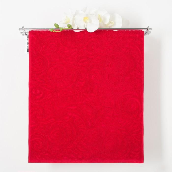 Полотенце махровое Privilea 9С46 Элегия 50х90 см, красный, хлопок 100%