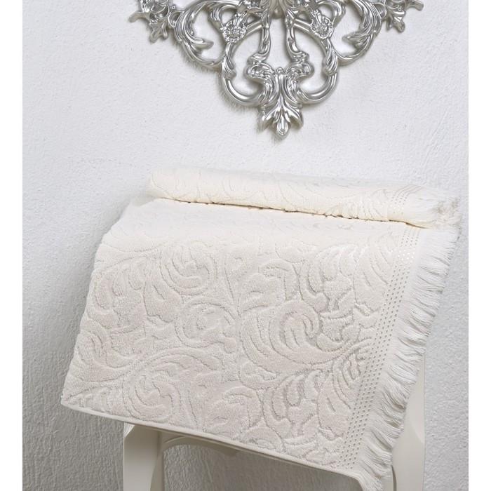 Полотенце Esra, размер 50 × 90 см, кремовый