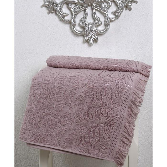 Полотенце Esra, размер 90 × 150 см, грязно-розовый