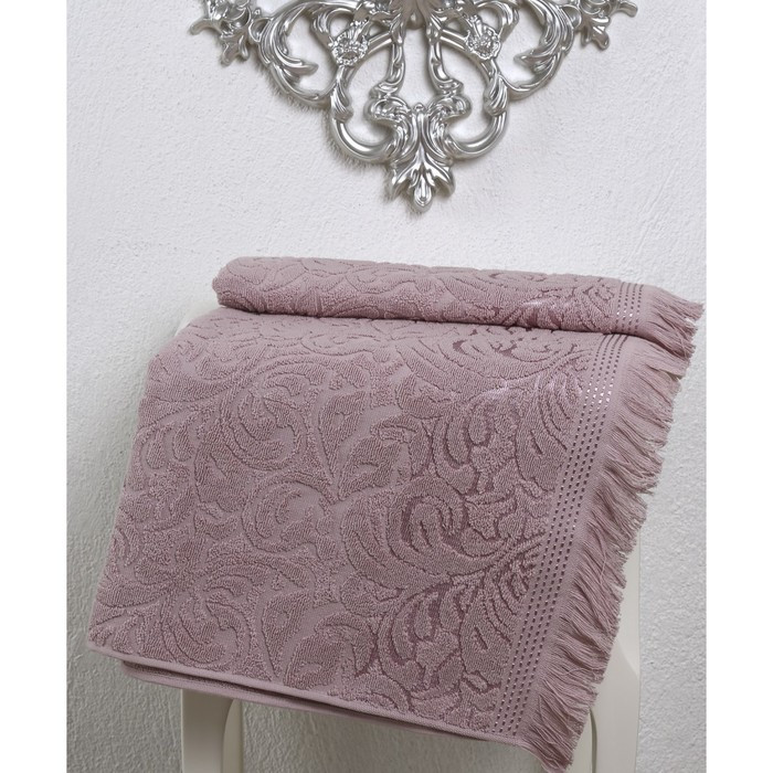 Полотенце Esra, размер 70 × 140 см, грязно-розовый