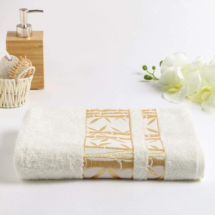 Полотенце махровое Бамбук 002 50х80 см, св.кремовый, бамбук 100%,  450г/м2