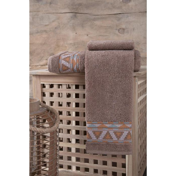 Полотенце Giza 50х90 см, цвет коричневый
