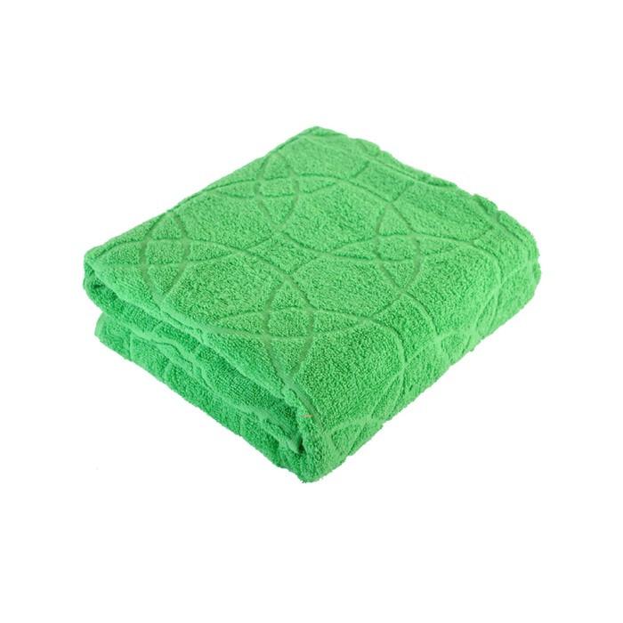 Полотенце, размер 70 × 140 см, цвет зелёный