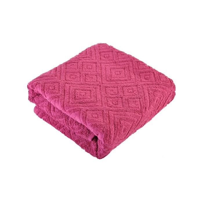 Полотенце, размер 70 × 140 см, цвет бордовый