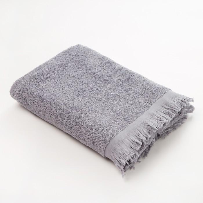 Полотенце махровое LoveLife «Fringer» 70х130, цвет серый
