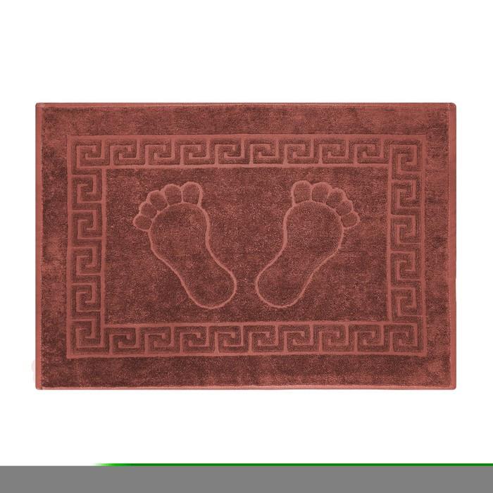 Полотенце махровое для ног 50х70 см, цвет кокосовый