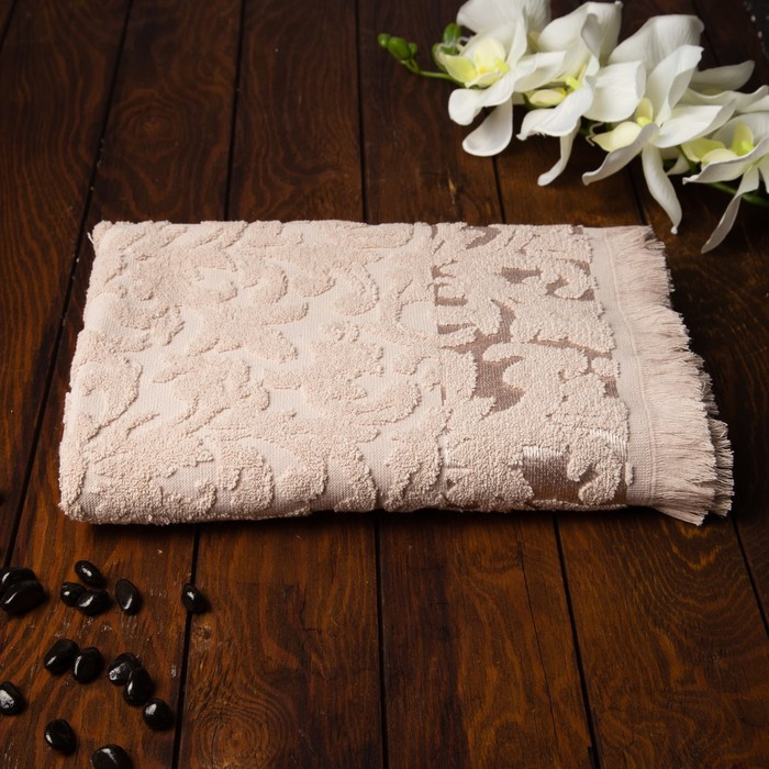 Полотенце Fidan Orient 70х130 см, бежевый, хлопок 100%,  420 гр/м2