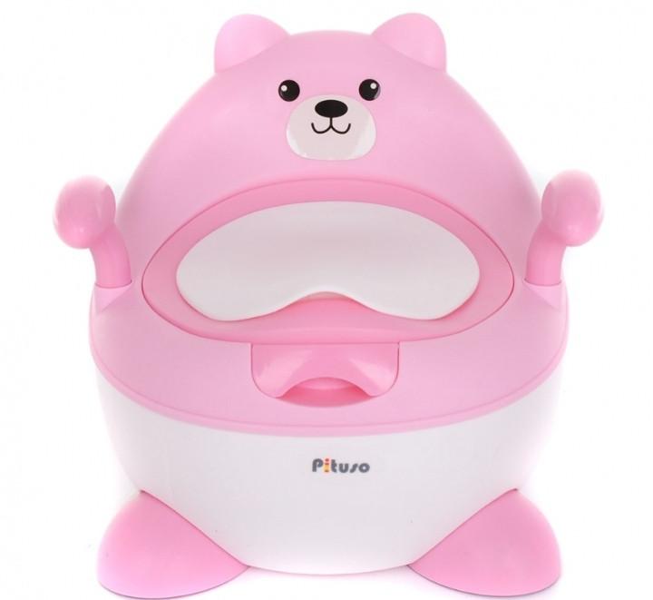 Детский горшок Pituso Мишутка Розовый Pink