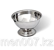 Металлическая чаша для взбивания пены на ножке