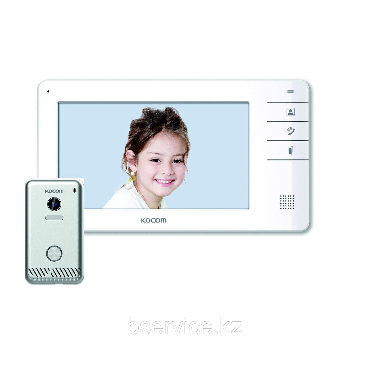 Комплект видеодомофона KOCOM KCV-S701EB