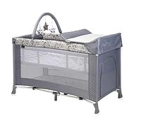 Кровать - манеж VERONA 2 Plus Серый / Grey DOTS 2078