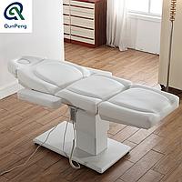 Кресло кушетка для косметолога / массажиста с электроприводом. Люкс