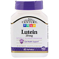 Лютеин, 20 мг, 60 капсул, 21st century