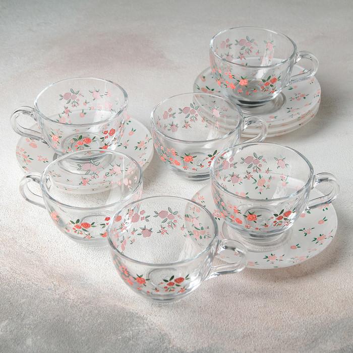 """Набор чайный на 6 персон """"Уоркшоп прованс"""", 12 предметов: 6 чашек 238 мл, 6 блюдец"""