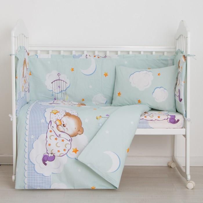 Комплект в кроватку 6 предметов Сладкий сон, бязь, хл100%