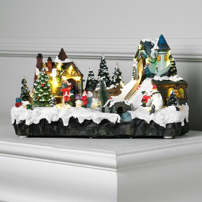 "Фигура световая ""Новогодняя сказка"" 20х33 см, 16 LED, музыка, АА*3, динамика, Т/БЕЛЫЙ"