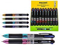 Ручка шариковая Mazari M-7301D Makoto 3в1 трехцветный