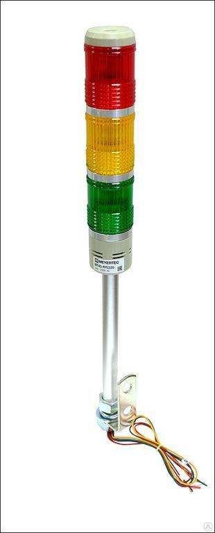 Светосигнальная колонна 24В AC/DC LED красный/желтый/зеленый MT45-RYG24B