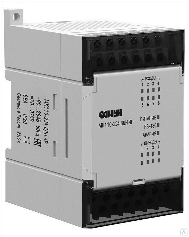 Модуль дискретного ввода-вывода МК110-220.4ДН.4Р [М01]
