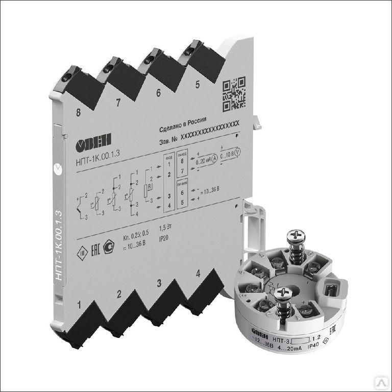 Преобразователь измерительный (РТ100, -50…+500С) НПТ-2.03.1.2