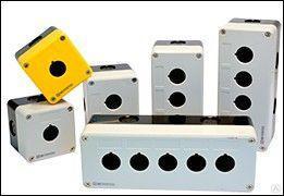 Корпус кнопочного поста,2 отверстия,серый MTB2-PE2