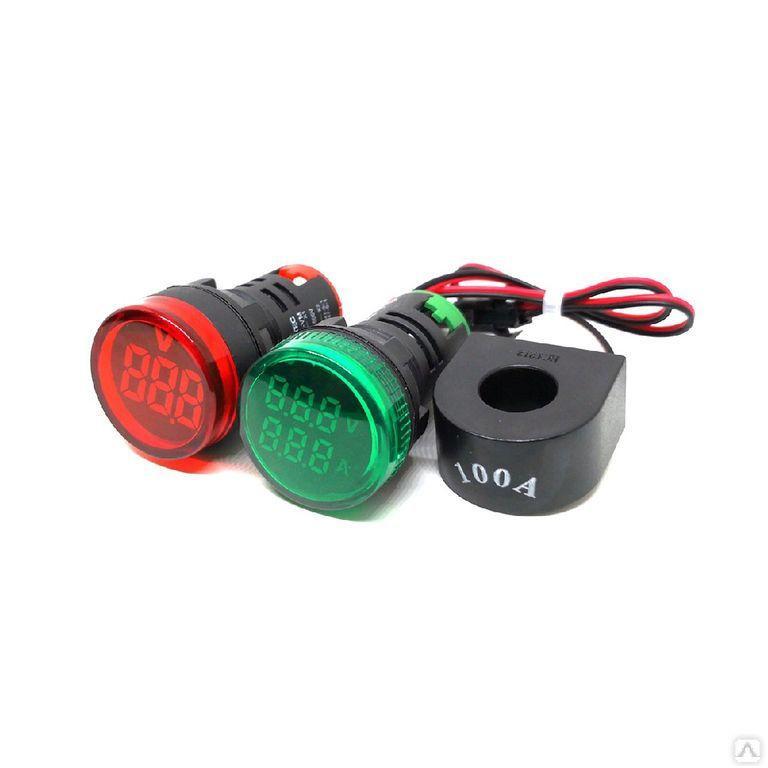 Индикатор тока и напряжения, 50-500V, 0-100A зеленый MT22-VAM3