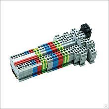 Клемма пружинная четырехпроводная, 4 мм2, серая MTS-FO4