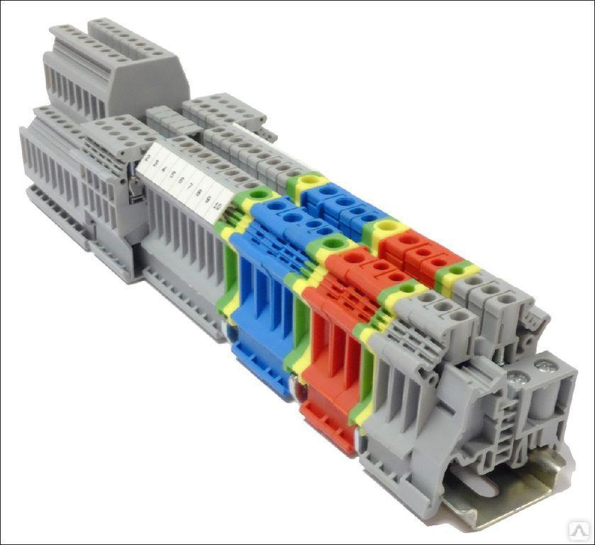 Заглушка торцевая для четырехпроводных винтовых клемм, серая MTU-PFO