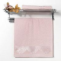 """Полотенце махровое """"Yasemin """" 50х90 см, розовый, 420 гр/м2, хлопок 100%"""