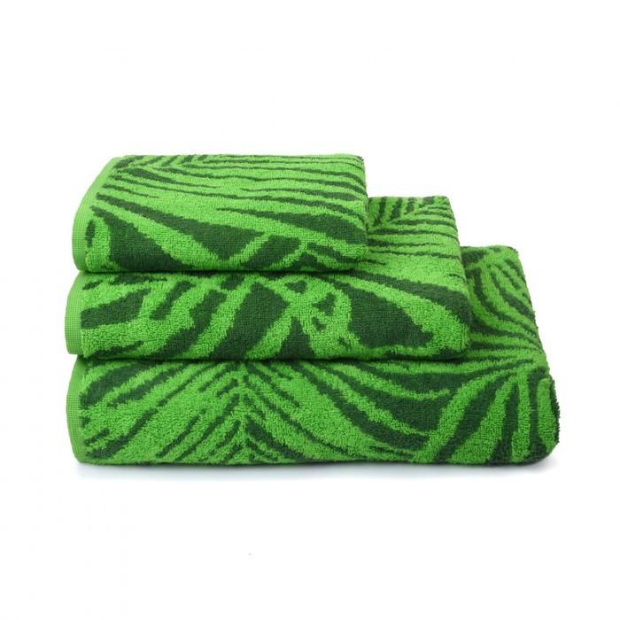 Полотенце махровое Tropical color, 70х130 см, цвет зелёный