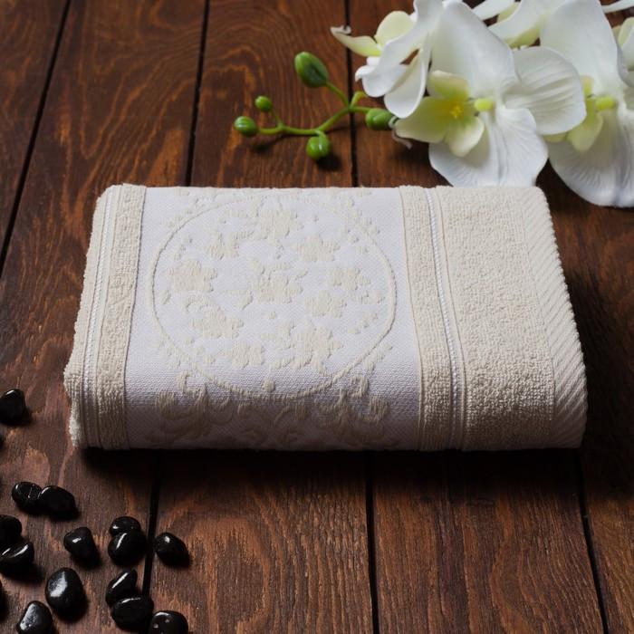 Полотенце махровое Papatya Color, размер 50х90 см, цвет бежевый, хлопок 100%