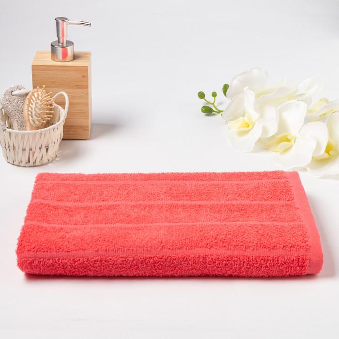 Полотенце махровое «ОГОРОД» 60х130 см, цвет коралловый