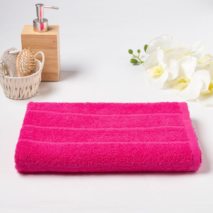 Полотенце махровое «ОГОРОД» 60х130 см, цвет малиновый