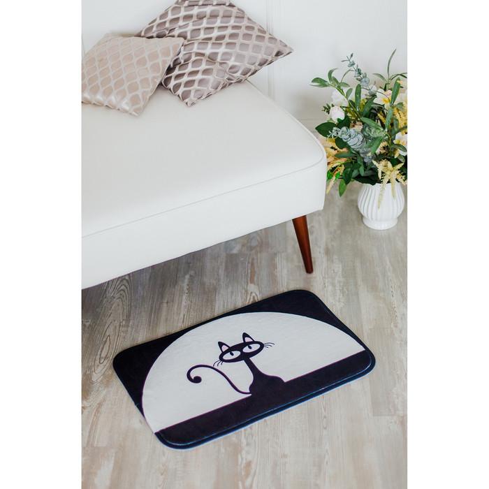 Коврик «Чёрная кошка», 40×60 см