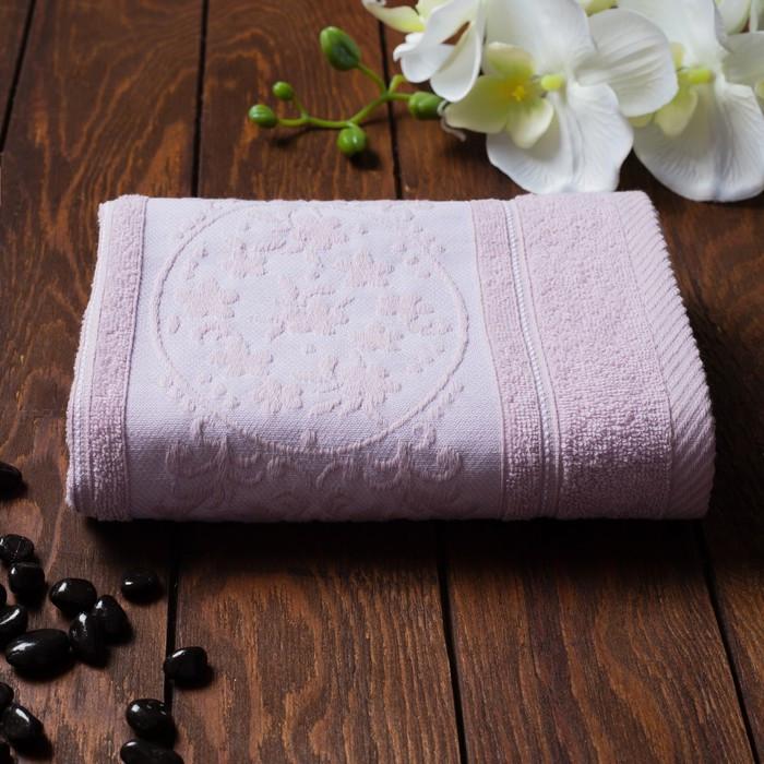 Полотенце махровое Papatya Color, размер 70х130 см, цвет сирень, хлопок 100%