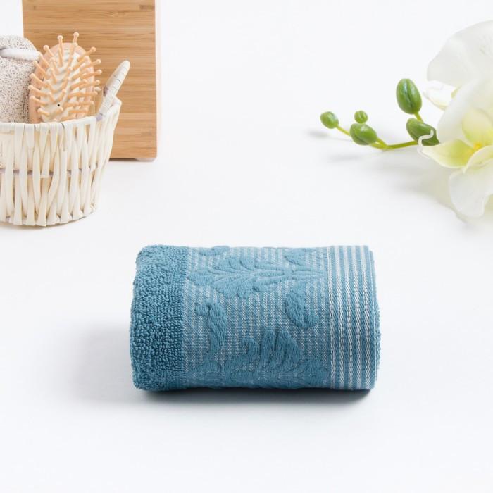 Полотенце махровое VENEZIA 70х130 см, синий, хлопок 100%, 420г/м2