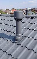 Вентиляционный выход утепленный ТР-85 125/160/700 для профиля СуперМонтерей Серый