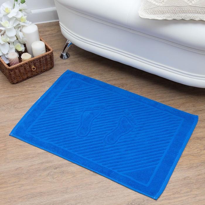 Полотенце для ног 50х70 см, классический синий, 700 гр/м2